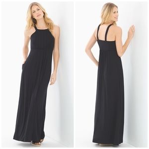 NWOT Soma Soft Jersey Draped Maxi Dress, Size S